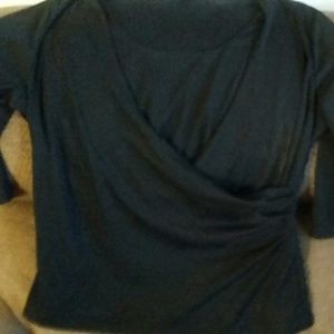 George Black Wrap Style Blouse